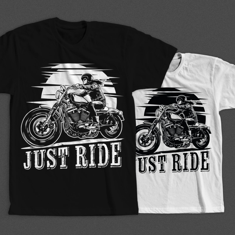 Mockup image - Biker Girl buy t shirt design
