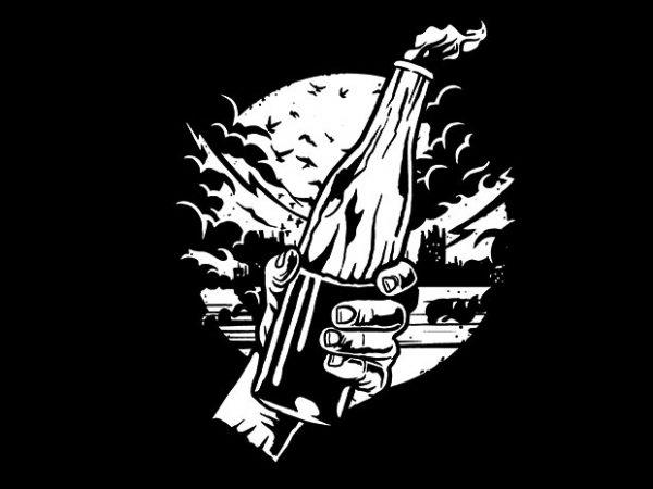 Molotov Cocktail t shirt design