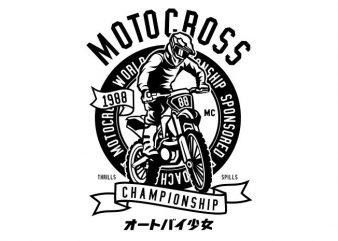 Moto Cross print ready vector t shirt design