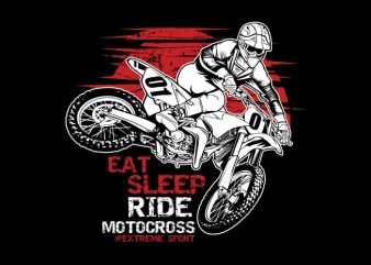 Motocross print ready vector t shirt design