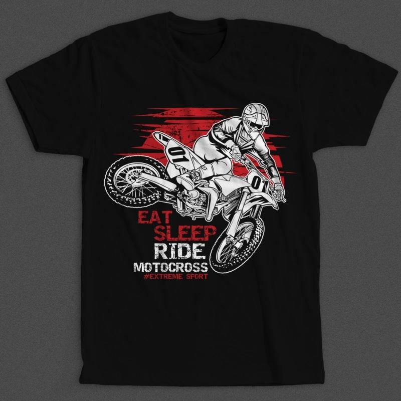 Motocross t shirt designs for merch teespring and printful