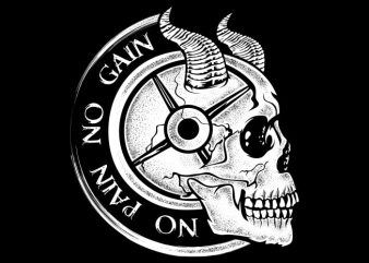 No Pain No Gain t shirt design to buy