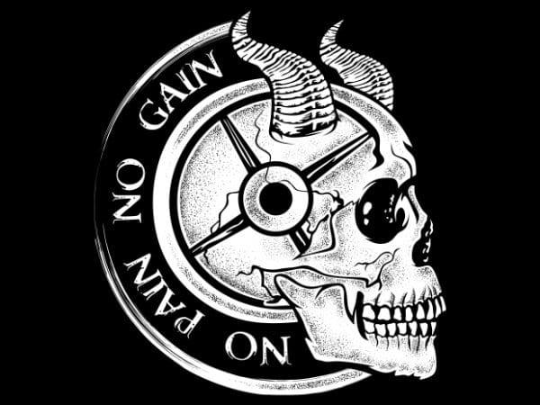 No Pain No Gain t shirt design to buy