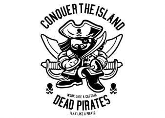 Pirates vector t shirt design artwork
