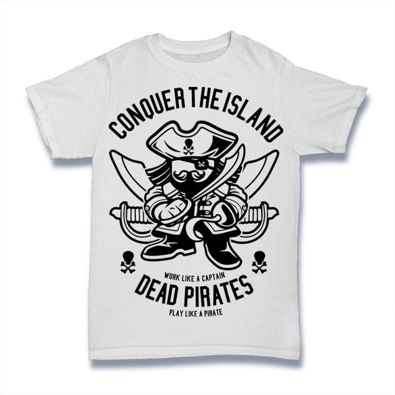 Pirates t shirt designs for merch teespring and printful