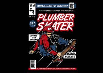Plumber Skater t shirt design