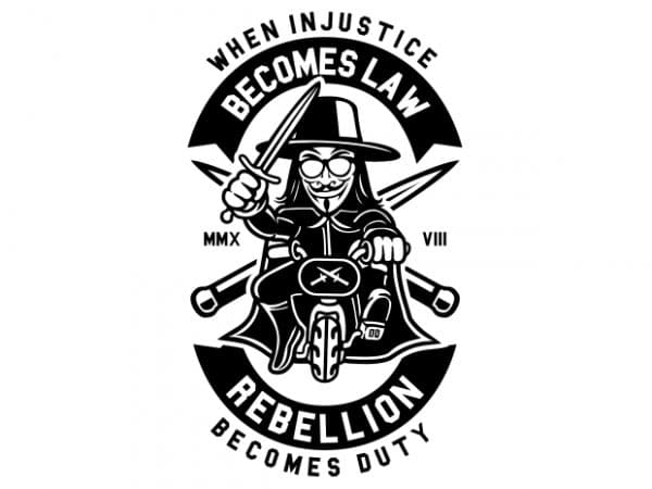 Rebellion Becomes Duty vector t-shirt design for commercial use