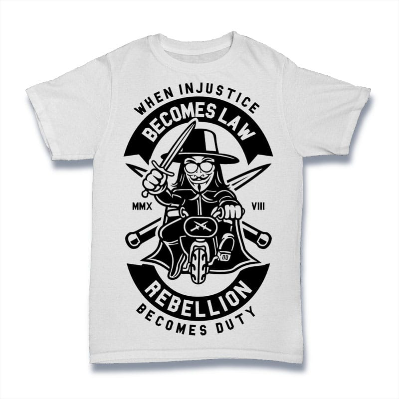 Rebellion Becomes Duty t shirt design graphic