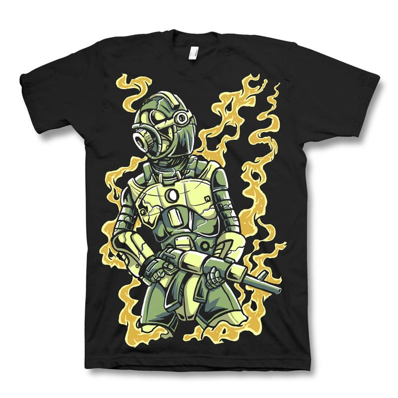 Robot soldier t shirt design buy t shirt designs for Buy t shirt designs online