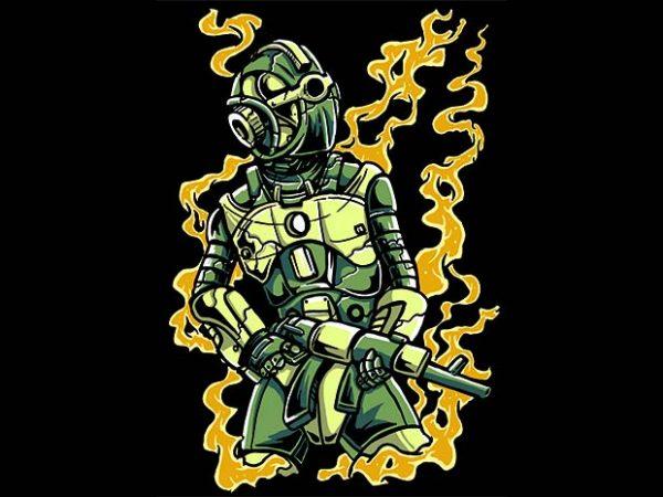 Robot Soldier t shirt design