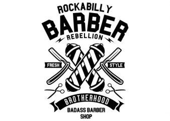 Rockabilly Barber t shirt design online