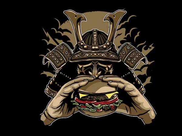 Samurai Burger t shirt design