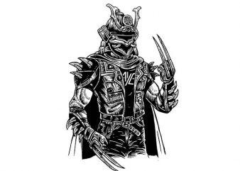 Samurai Punk t shirt design