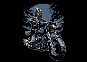 Samurai Ride t shirt design