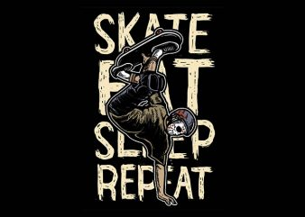 Skate Eat Sleep Repeat t shirt design