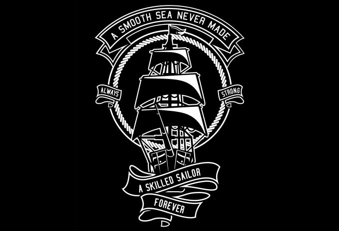 Skilled Sailor Display - Skilled Sailor buy t shirt design