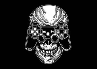 Skull Gamers t shirt design