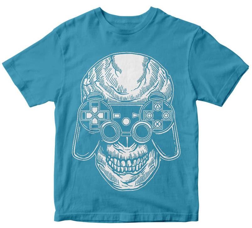 Skull Gamers t shirt design t shirt designs for sale
