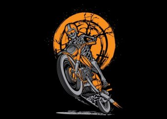 Skull Rider t shirt template vector