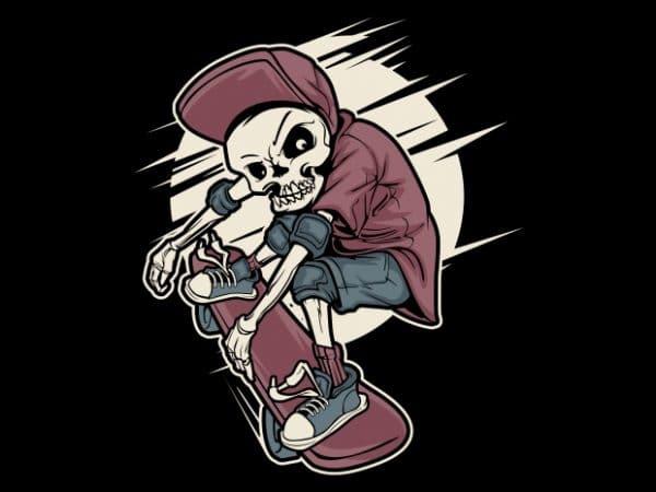 Skull Skates graphic t-shirt design