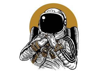 Space Dee Jay t shirt design