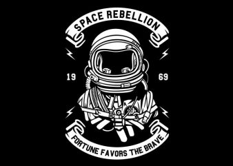Space Rebellion graphic t-shirt design