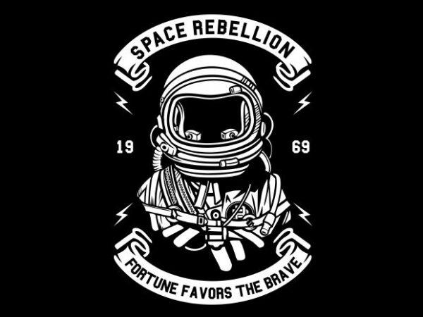 Space Rebellion graphic t-shirt design
