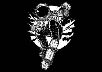 Space Skater t shirt design
