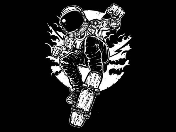 Space Skater t shirt design