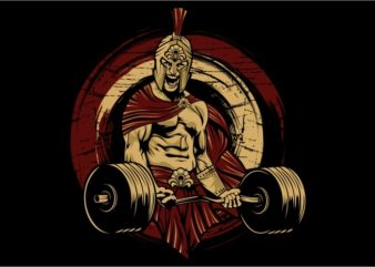Spartan Gym vector t-shirt design