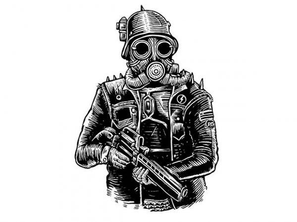 Steampunk Soldier t shirt design