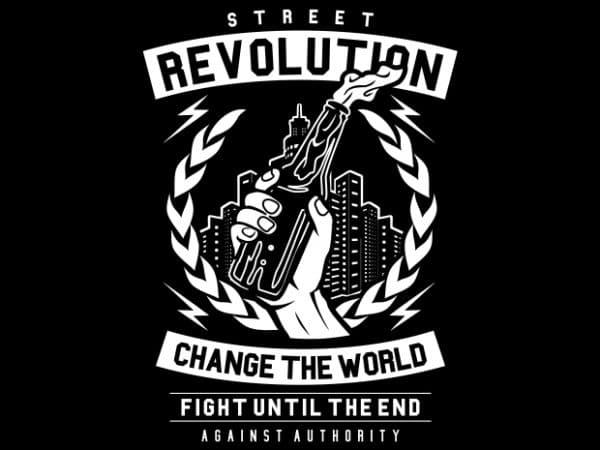 Street Revolution print ready vector t shirt design