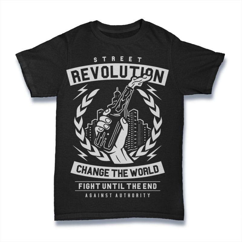 Street Revolution t shirt design graphic