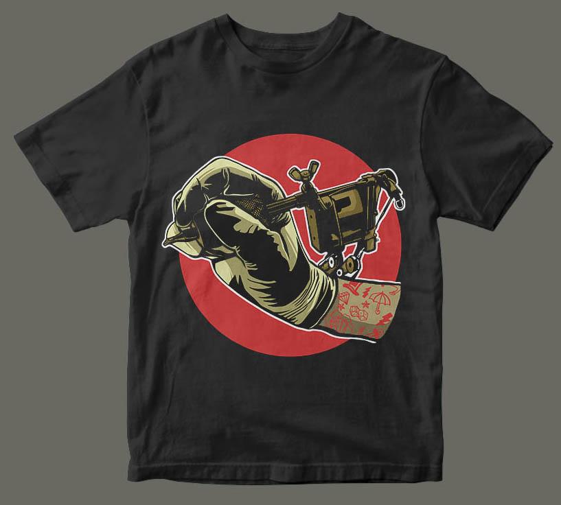 Tattoo machine t shirt design buy t shirt designs for Buy t shirt designs online