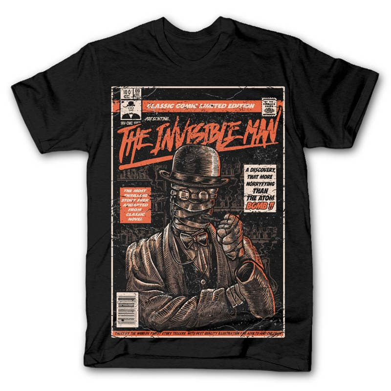 The Invisible Man t shirt design tshirt factory