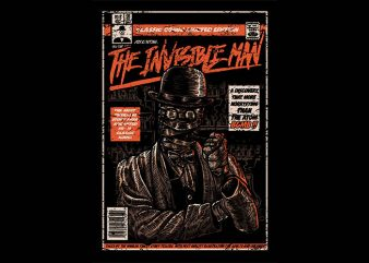 The Invisible Man t shirt design
