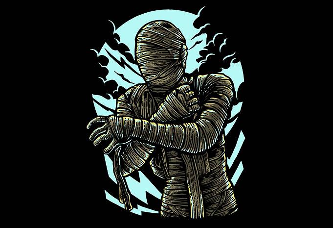 The Mummy tshirt design - The Mummy t shirt design buy t shirt design