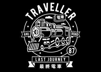 Traveller vector t shirt design artwork