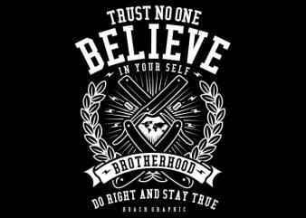 Trust No One graphic t-shirt design