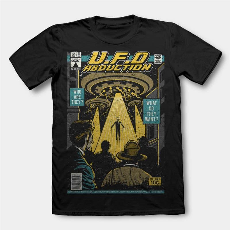 UFO t shirt design tshirt design for merch by amazon