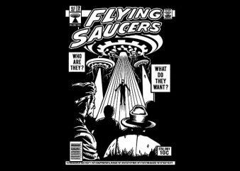 UFO t shirt design