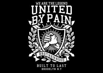 United By Pain vector t shirt design for download