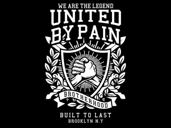 United By Pain Display 600x450 - United By Pain buy t shirt design
