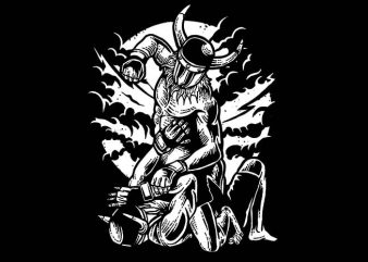 Viking MMA Fighter t shirt design