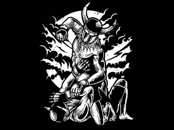 Viking MMA Fighter t shirt design