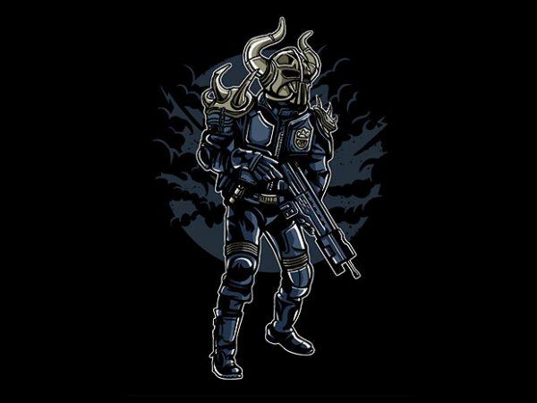 Viking Soldier t shirt design