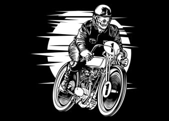Vintage Racer commercial use t-shirt design
