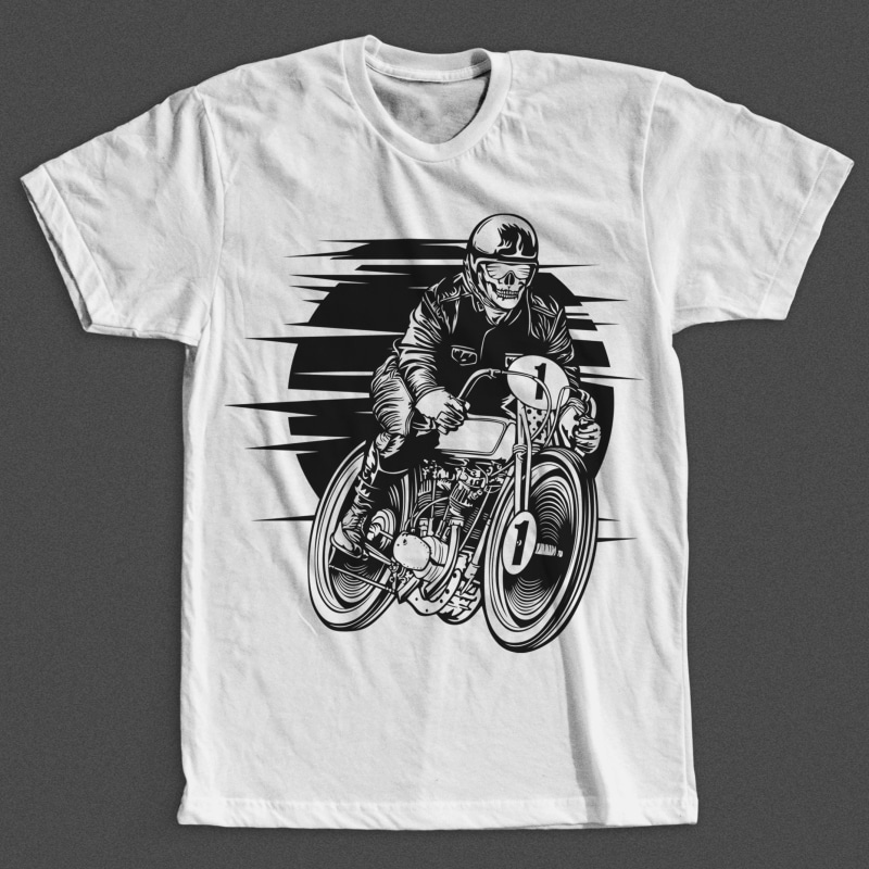 Vintage Racer t shirt designs for merch teespring and printful