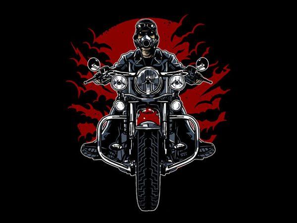 Wild Biker t shirt design