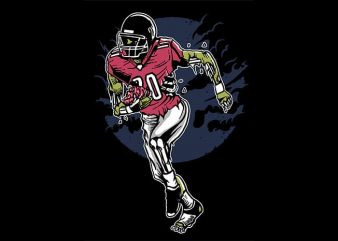 Zombie Football t shirt design